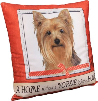 Yorkie Pillow 16x16 Polyester
