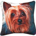 Yorkie Artistic Throw Pillow 18X18″ 1