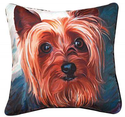 "Yorkie Artistic Throw Pillow 18X18"""