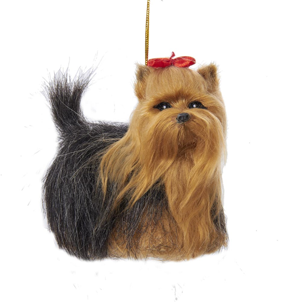 Yorkie Plush Ornament 4 Inches