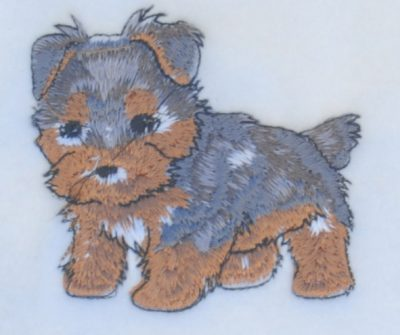 Yorkie Scarf Cream Fleece Puppy Cut
