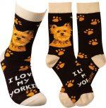 I Love My Yorkie Socks