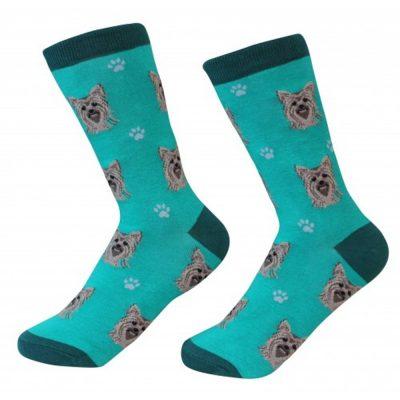 Yorkie Socks Teal