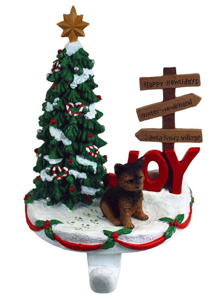 Yorkie Stocking Holder Puppy Cut