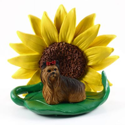 Yorkie Sunflower Figurine