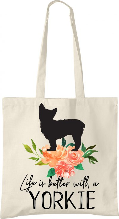 Yorkie Life is Better Tote