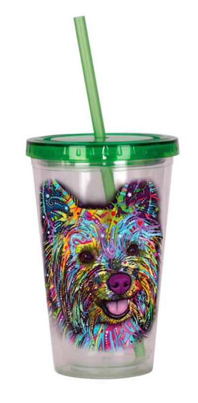 Yorkie Tumbler – Double Walled Acrylic 16 Ounces 1