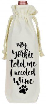 Yorkie Wine Bag