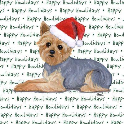 Yorkie Dog Coasters Christmas Themed