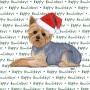 Yorkie Dog Coasters Christmas Themed 1