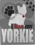 Yorkie Polyester Dog Blanket Throw