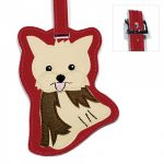 Yorkie Dog Luggage Tag Briefcase Gym Backpack Travel ID