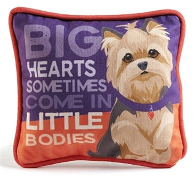 Yorkie Beagle Decorative Dog Pillow 9x8 Puppy Cut
