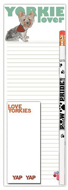 Yorkie Dog Notepads To Do List Pad Pencil Gift Set