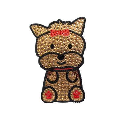 Yorkie Dog Rhinestone Glitter Jewel Phone Ipod Iphone Sticker Decal 1